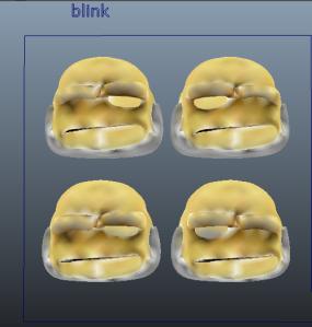 Moes blink Blenshape blink left/right blink extreme left/right